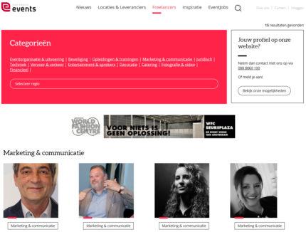 Nieuw freelancer platform in evenementenbranche