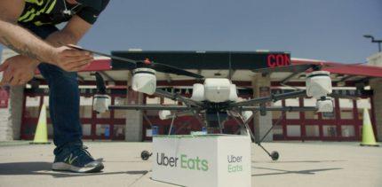 Uber Eats bezorgd maaltijden met drones