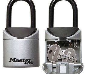 Berg extra sleutels veilig op met de Master Lock portable lock box