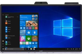 Sharp introduceert 's werelds eerste gecertificeerde Windows collaboration display