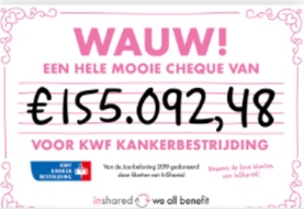 InShared klanten doneren 155.000 euro aan het KWF